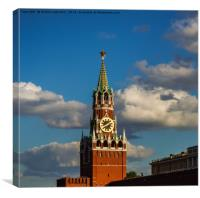 towers of the Moscow Kremlin, Canvas Print