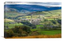 Askrigg View, Canvas Print
