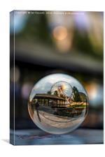 Liverpool Wheel Glass Ball, Canvas Print