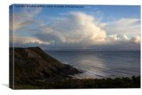 Pennard cliffs and cloud, Canvas Print
