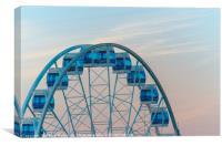 Aerial view of the Ferris wheel in Helsinki, Finla, Canvas Print