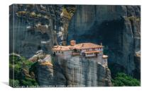 Mountain scenery with monastery of Meteora, Canvas Print