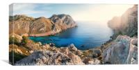 View of thel bay of Cape Formento, Mallorca, Spain, Canvas Print
