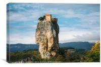 Katskhi pillar. The church on a rocky cliff, Canvas Print