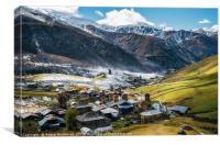 Ushguli community, Svaneti, Georgia, Canvas Print