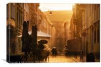 Rain and sun, Canvas Print