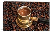 Arab copper coffee pot, Canvas Print