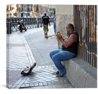 Jazz in the street, Canvas Print