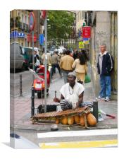 Musician street, Canvas Print