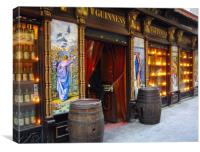 Pub in Madrid, Canvas Print