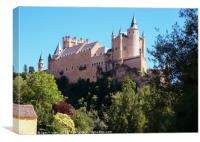 Castle Alcazar de Segovia, Canvas Print