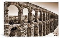 Aqueduct in Segovia, Canvas Print
