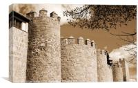 Towers of castle Avila, Canvas Print