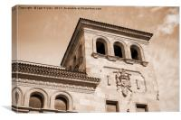 Oldest spanish bank, Canvas Print