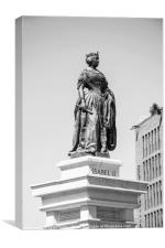 Monument of spanish queen Isabel II, Canvas Print