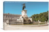 Plaza de Oriente in Madrid, Canvas Print