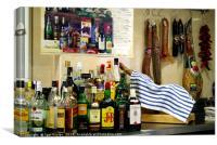 Spanish bar, Canvas Print