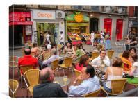 Street cafe, Canvas Print