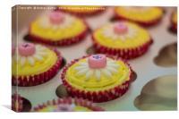Closeup Cupcakes, Canvas Print