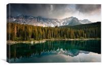 Lago Carezza, Canvas Print