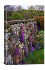 Wall of Flowers, Canvas Print