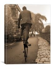 Penny Farthing (sepia), Canvas Print
