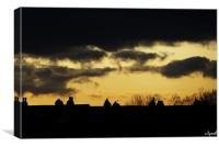 Night sky, Canvas Print
