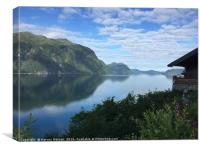 Peaceful fiord reflections , Canvas Print
