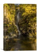 Cumbrian Waterfall., Canvas Print