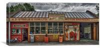 Old village garage., Canvas Print