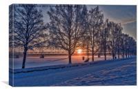 Sunset in Rovaniemi., Canvas Print