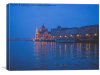 The parliament in Budapest., Canvas Print