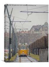 Budapest Tram., Canvas Print
