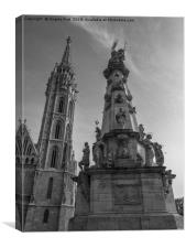 Matthias Church., Canvas Print