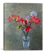 Sweet Peas, Canvas Print