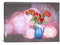 Jug of flowers, Canvas Print