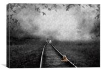 Looking for teddy, Canvas Print