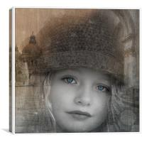 A girl in Moscow, Canvas Print