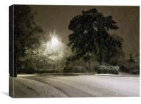 A Cheshire snow scene., Canvas Print