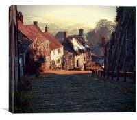"Gold Hill     The ""Hovis"" Hill       , Canvas Print"