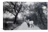 A winters' tale, Canvas Print