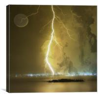 Lightening Strike, Canvas Print