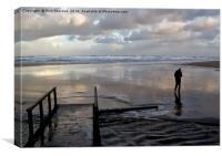 Daybreak On Wet Sand, Canvas Print