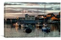 Harbour Sunrise, Canvas Print