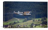 Flying In The Alps, Canvas Print