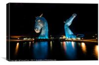 Starlit Kelpies, Canvas Print