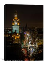 Princess Street Edinburgh, Canvas Print