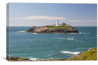 Godrevy Lighthouse, Cornwall, Canvas Print