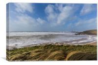 Godrevy Beach, Cornwall, Canvas Print