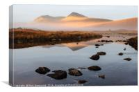 Sunrise over the Black Mount, Canvas Print